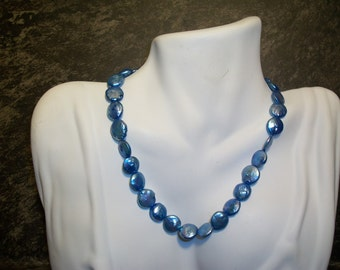 Gorgeous Blue Pearl Necklace