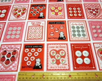Retro Buttons Cards 24x44 cotton panel Fabric by Holly Holderman for Lakehouse Drygoods
