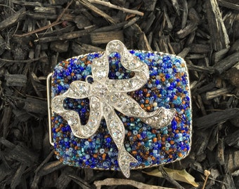 vintage beaded Bow Buckle