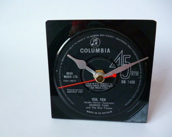 Desk Clock GEORGIE FAME 1960s  Music Vinyl Record Clock Single Yeh Yeh