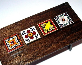 Medieval Kitchen Trivets, Set of 4 Trivets, Rustic Dollhouse Miniature 1/12 Scale, Hand Made