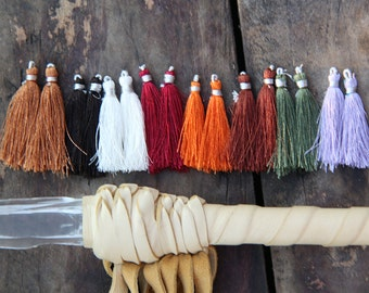 "Art Silk Tassels from India, Natural Bliss Mix.  Rustic Palette Jewelry Making Tassels, Craft Supplies, Boho Tassels, 2"", 16 pieces."
