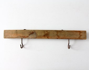 rustic wood rack, vintage sign holder