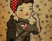 Rosie the Ghostbuster Art Print