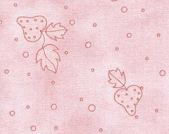 Nursery Cotton Fabric - Nice People Nice Things by Helen Stubbings - Strawberry design