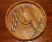 Nut Bowl, Mid-Century Modern Design, Rustic, Sleek, Cracker Pick Utensils, Gift, Christmas