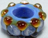 Hair Jewelry | Dread Bead | Glow In The Dark | Glass Dread Bead | Dreadlock Accessories | Handmade Glass Dread Bead | Big Hole Bead