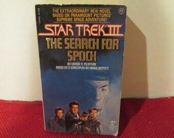 Vintage Paperback Book Star Trek III The Search for Spock by Vonda N. McIntyre