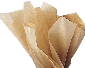 Tissue Paper . Kraft    24 Sheets . Tan . DIY Wedding Decor  Gift Wrap . Craft Supplies  DIY Pom Pom Supplies