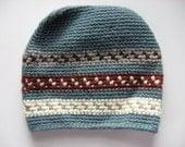 boy's slate blue wool ski hat