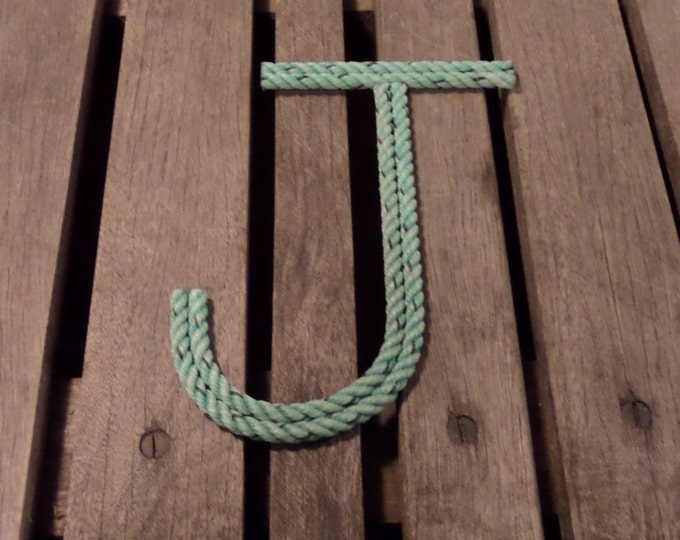 "6"" Rope Letters Personalize for Nautical Nursery  Wedding Alphabet Nautical Decor Text Letters Natural"
