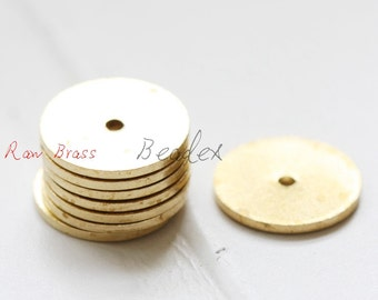 20 Pieces / Raw Brass / Brass Base / Pendant / Spacer / Disc / Flat 14mm (C1871//S136)