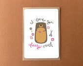 Greeting card - I love you beary [very] much