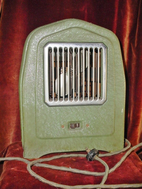 Vintage Arvin Heater Tombstone Style Early Space Heat With Fan