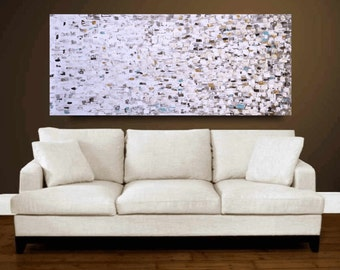 """creme brown Acrylic painting 72"""" Abstract  Painting  , from jolina anthony signet  express shipping"""
