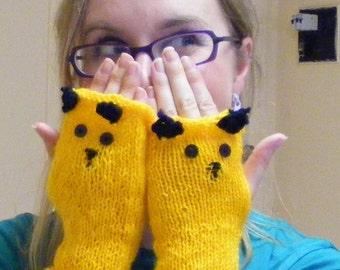 Sooty fingerless gloves