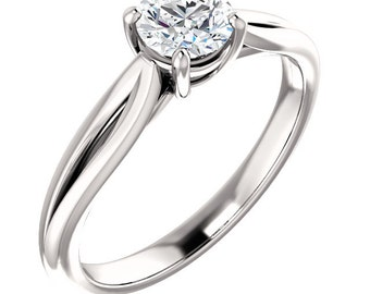 1/2ct  EGL Certified Diamond F Color  SI2 Clarity Solitaire  Engagement Ring In 14k White Gold ST233298