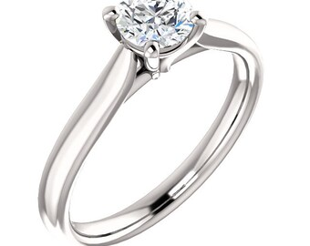 1/2ct GIA Certified Diamond Solitaire  Engagement Ring In 14k White Gold ST233190
