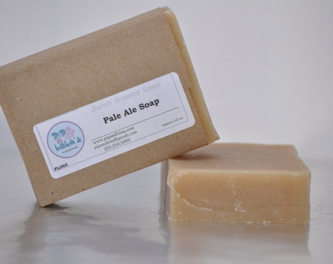 Pale Ale Soap --  All Natural Soap, Handmade Soap, Unscented Soap, Hot Process Soap, Vegan Soap, Beer Soap, Man-Friendly