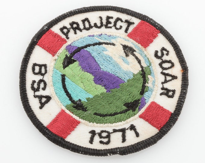 Vintage 1970s Boyscout Patch | 1970s BSA Soar Project 1971 | Boy Scouts America Patch Sew-On Applique for Jacket Hat Shorts Sweater Backpack