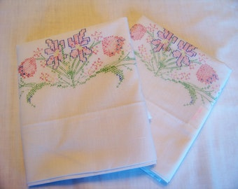 Pillowcase to Embroider Embroidery Embroidered Pillow Cases