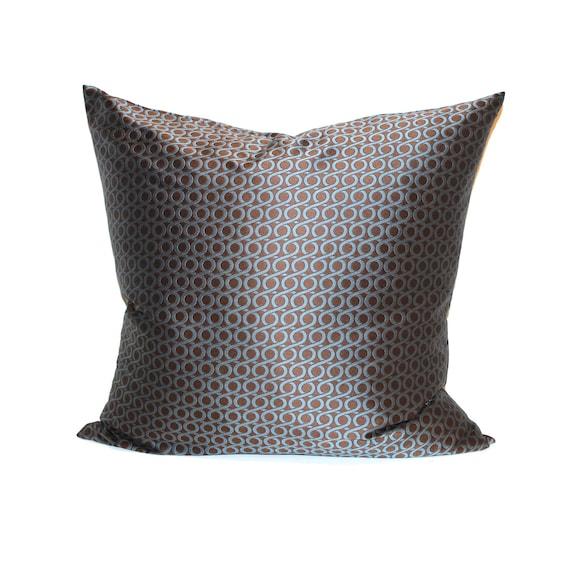 Decorative Pillow Cover 12x16 : Lumbar Pillow Blue Brown Throw Pillow Cover Modern