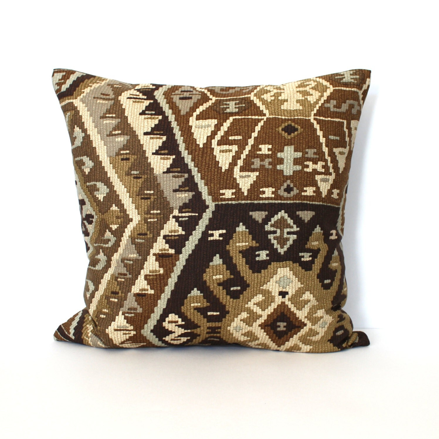 Brown Pillow Southwest Pillows Throw Pillow by couchdwellers