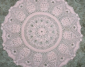 Handmade Detailed Crochet Doily White-Home Table Top Decor -Placemat-Table Cover-15 Inch-All Occasion Doily-Round Doily-Table Centerpiece