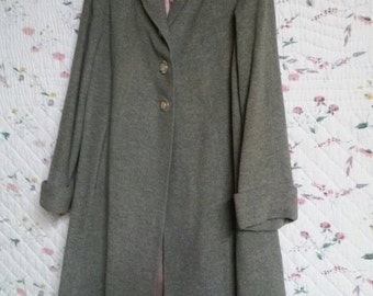 Grey Wool and cashmere vintage coat