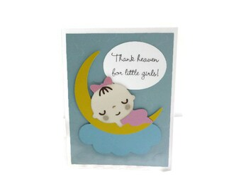 Baby Girl Card Congratulations Baby Card