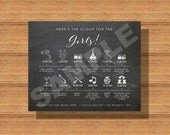 Printable Chalkboard Wedding Day Itinerary Card for the Girls, Wedding Day Timeline for The Bridesmaids