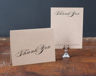 "Rustic Thank You Cards - ""Rustic Black & White Love"""