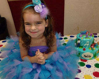 Turquoise & Lavender Petti Tutu  Great for Birthdays, Photography Prop, and Dance