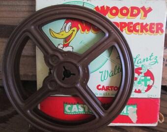 Vintage Castle Films Movie Woody Woodpecker Cartoon 451 Knock Knock.  Box and Reel Only.  No Film.  Y-133