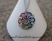 Rainbow Helm Chain Pendant - Anodized Aluminum jewelry