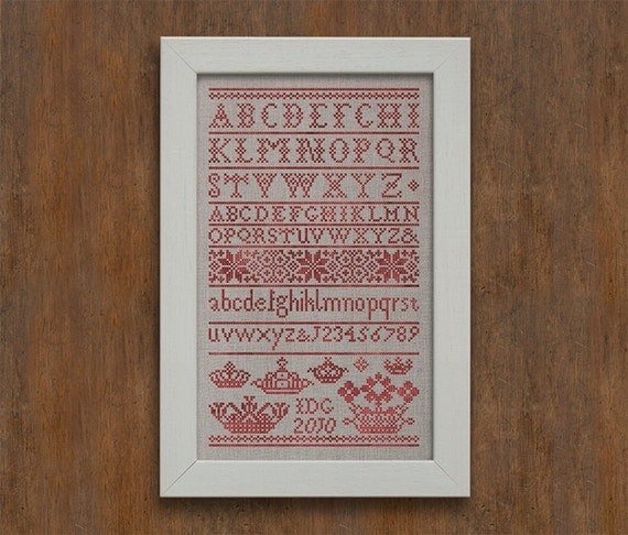 Letters from the North, No. 1 - Instant Download PDF Cross Stitch Embroidery Pattern