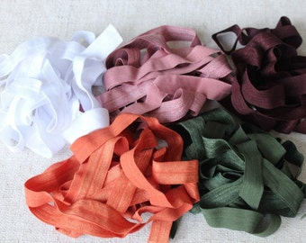 Fold over elastic  5  colors 2 of each color