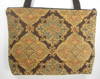 Soft Brown and Gold Chenille, Maggie Purse