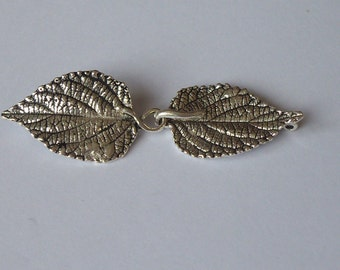 1 Solid Sterling Silver 925 Leaf hook and eye clasp set beads(1 strand)