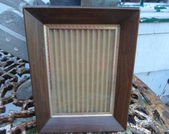 Vintage Wood Frame With Gold Tone Trim Hanging Only Vertical or Horizontal 1960s to 1970s