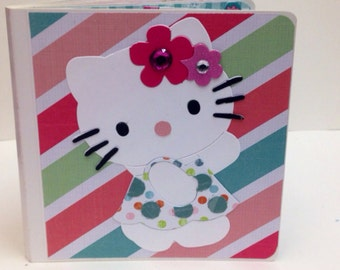 Hello Kitty scrapbook premade pages chipboard scrapbook mini album  birthday