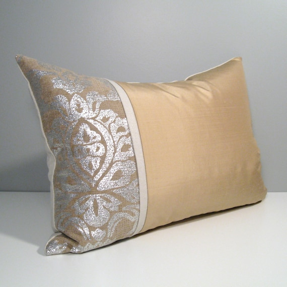 Modern Silver Pillows : Gold & Silver Pillow Cover Modern Pillow Cover Decorative