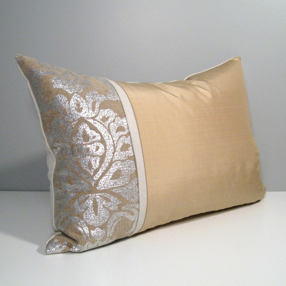 Modern Gold Pillows : Gold & Silver Pillow Cover Modern Pillow Cover Decorative