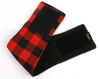 Leak proof Belly Band for male Dogs Stop Marking Inside Red Buffalo Plaid