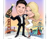 Caricature Save the Dates - Cards, Magnets, and Invitations