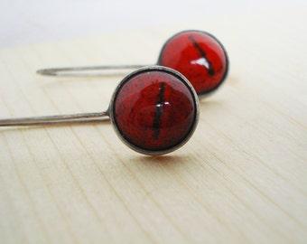Sterling silver enamel earrings silver enamel jewelry vitreous enamel fired on copper