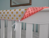 """TWO 51"""" covers in gold dots - minky back"""