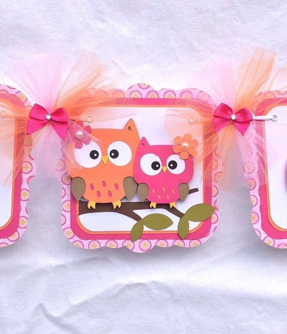 Owl Baby Shower Supplies: Owl Baby Shower Banner Owl Banner Owl Girl By
