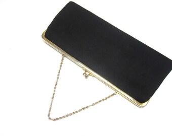 Black Handbag Clutch Purse