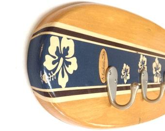 Hibiscus Surfboard Coat Rack 36 Inch or 48 Inch